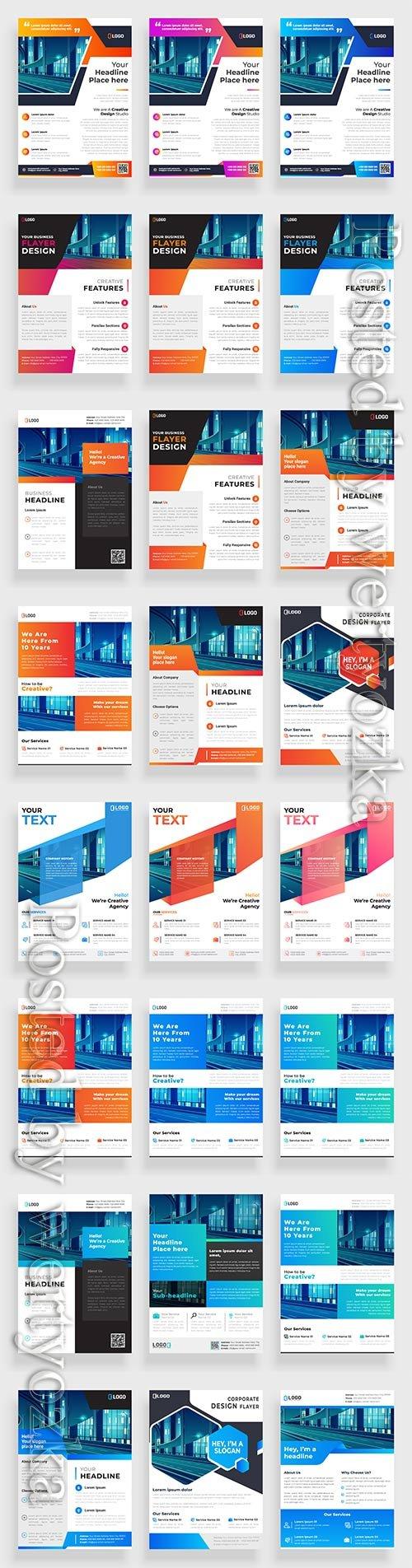 Business flyer template design, brochure vector illustration # 7