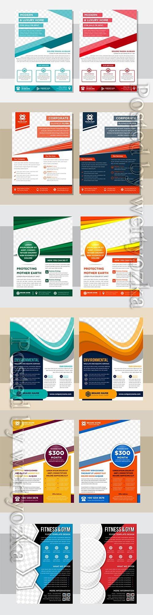 Business flyer template design, brochure vector illustration # 4
