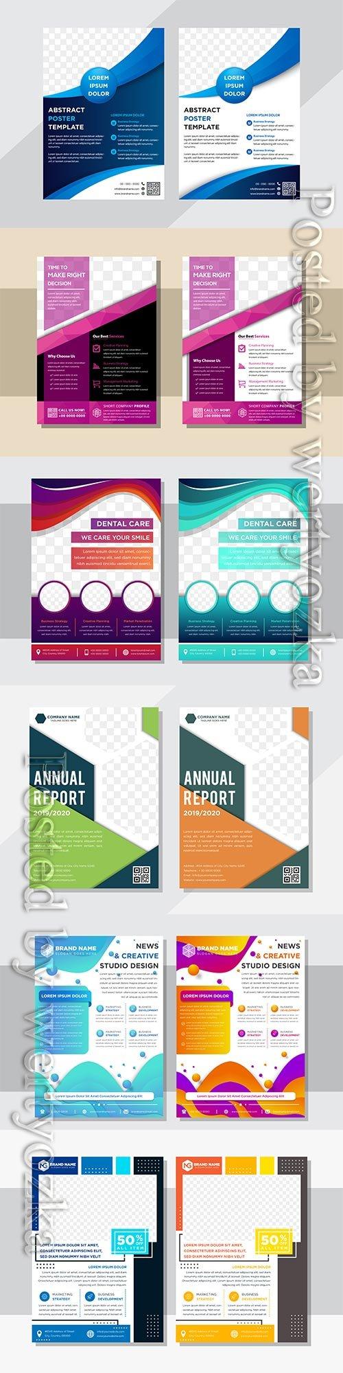 Business flyer template design, brochure vector illustration # 3