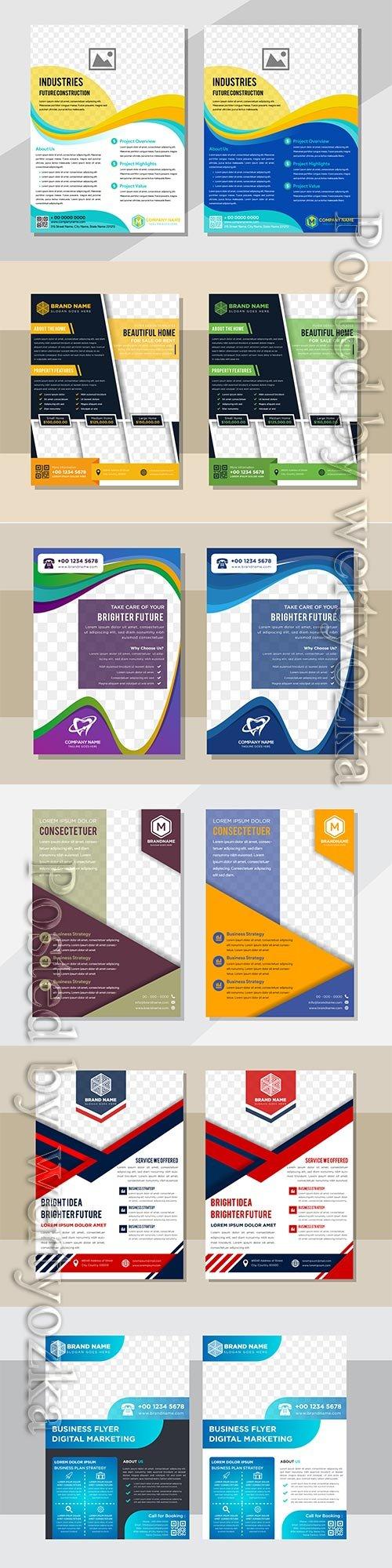 Business flyer template design, brochure vector illustration # 2