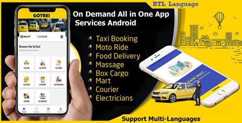 CodeCanyon - GoTaxi v1.0.6 - On Demand All in One App Services Android - 22612350