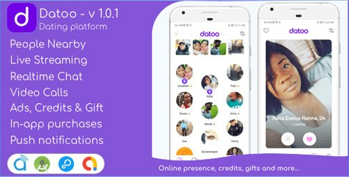 CodeCanyon - Datoo v1.0.1 - Dating platform with Live Steaming and Video calls + Admin Panel - 25740589