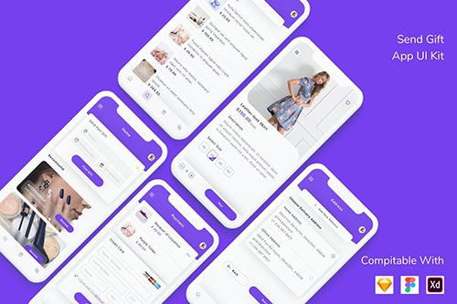 Send Gift App UI Kit