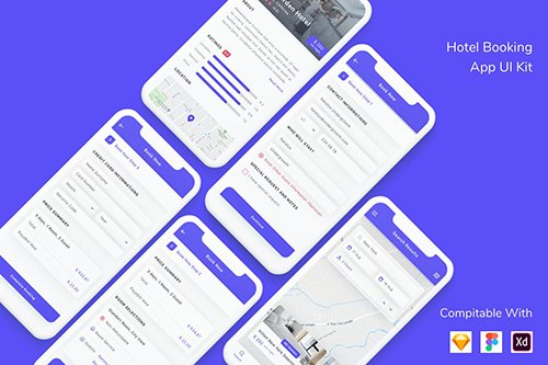 Hotel Booking App UI Kit