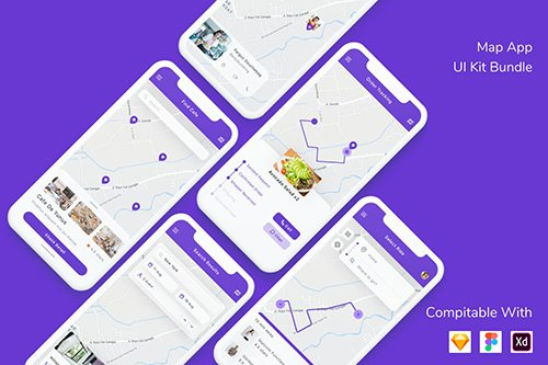Map App UI Kit Bundle