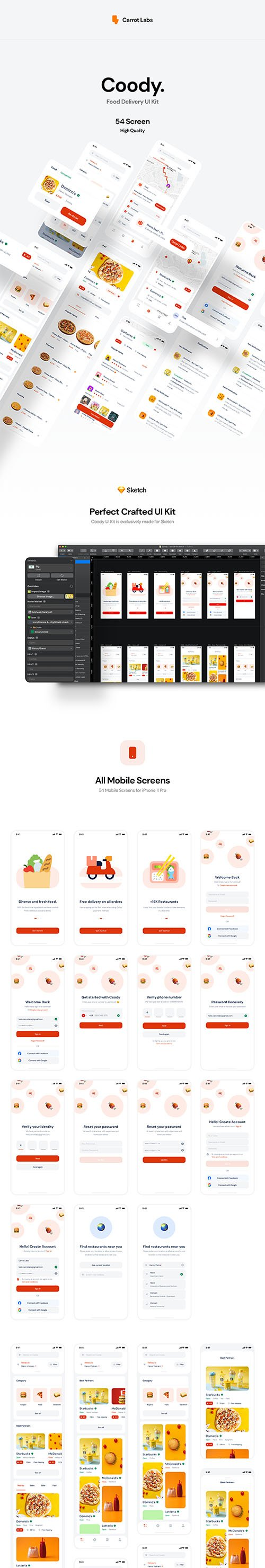 Coody Food iOS UI Kit