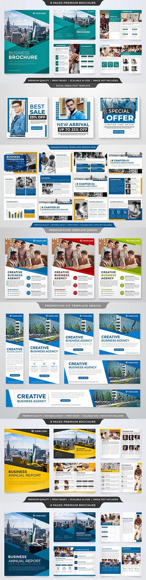 Minimalist business presentation layout template