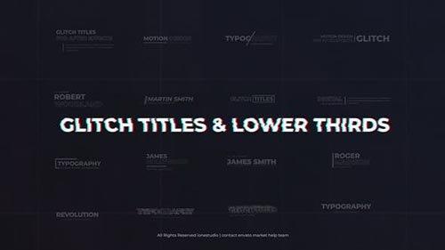 Modern Glitch Titles & Lower Thirds 26679278