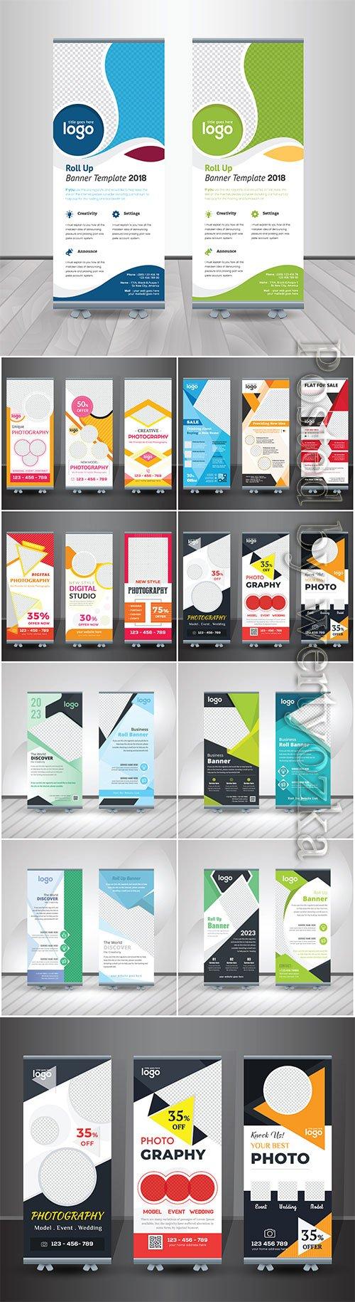 Roll up business brochure flyer banner vector design # 5