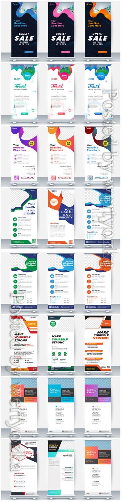 Roll up business brochure flyer banner vector design # 3