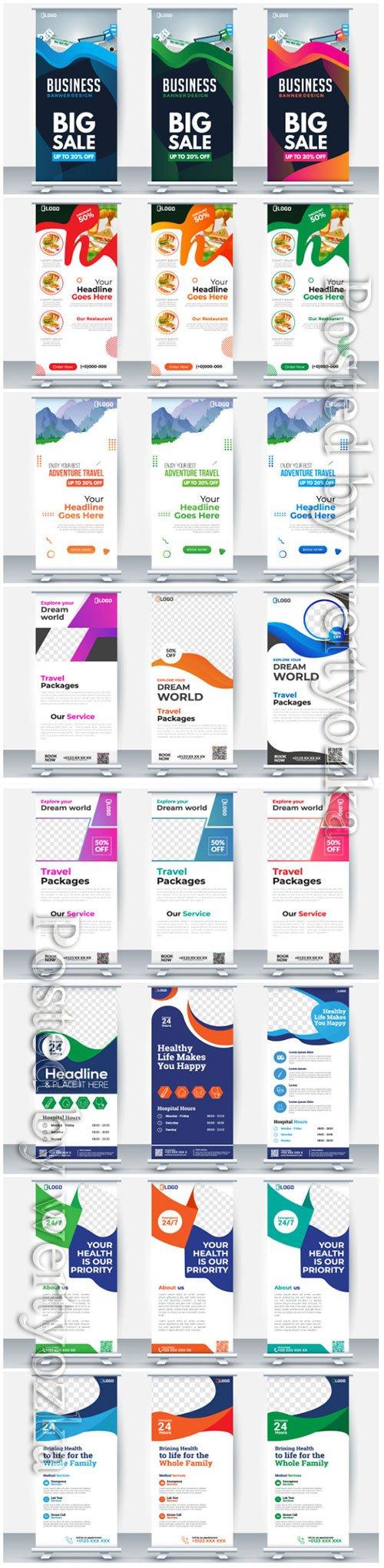 Roll up business brochure flyer banner vector design # 2