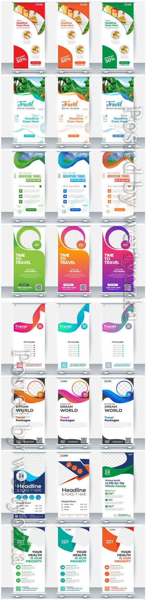 Roll up business brochure flyer banner vector design # 4