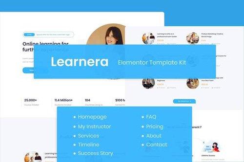 ThemeForest - Learnera v1.0 - e-Learning Elementor Template Kit - 26720985