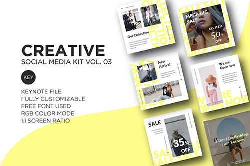 Creative Social Media Kit vol. 03 - Keynote