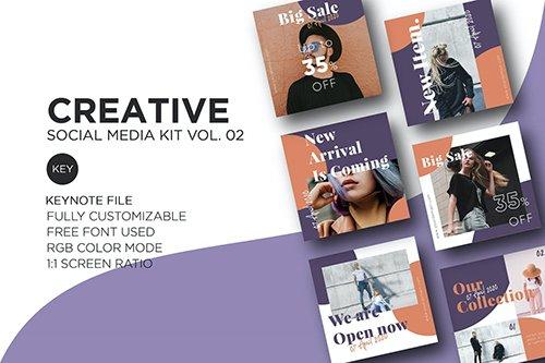 Creative Social Media Kit vol. 02 - Keynote