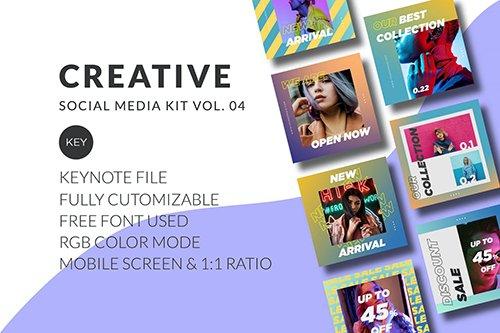 Creative Social Media Kit Vol. 04 - Keynote