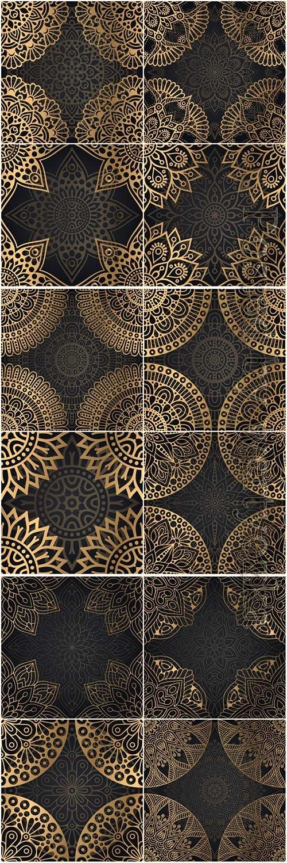 Mandala seamless pattern, islamic vector background # 3