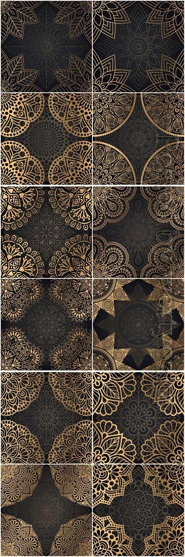 Mandala seamless pattern, islamic vector background # 2