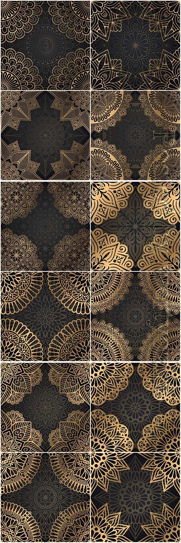Mandala seamless pattern, islamic vector background