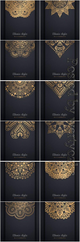 Mandala seamless pattern, islamic vector background # 16