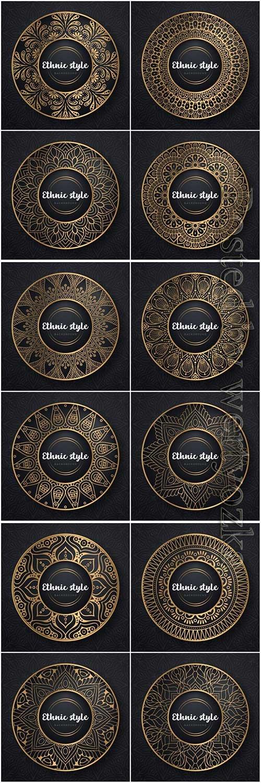 Mandala seamless pattern, islamic vector background # 14