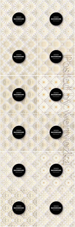 Mandala seamless pattern, islamic vector background # 12