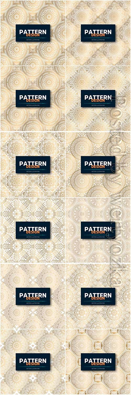 Mandala seamless pattern, islamic vector background # 13