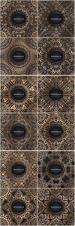 Mandala seamless pattern, islamic vector background # 11