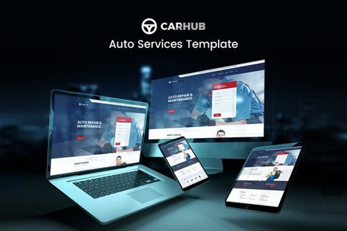 ThemeForest - Carhub v1.0 - Auto Services Template Kit - 26300704