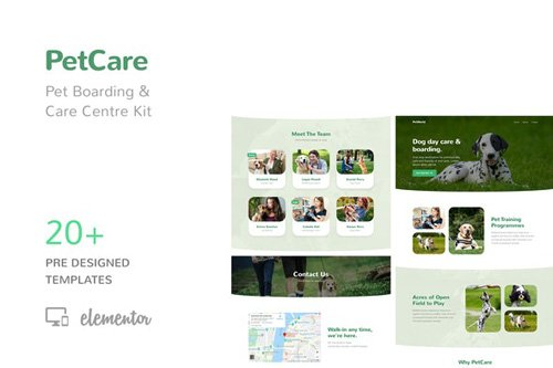 ThemeForest - PetCare v1.0 - Pet Boarding and Care Centre Template Kit (Update: 7 May 20) - 25888025