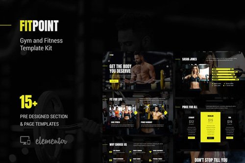 ThemeForest - Fit Point v1.0 - Gym & Fitness Template Kit (Update: 8 May 20) - 26009664