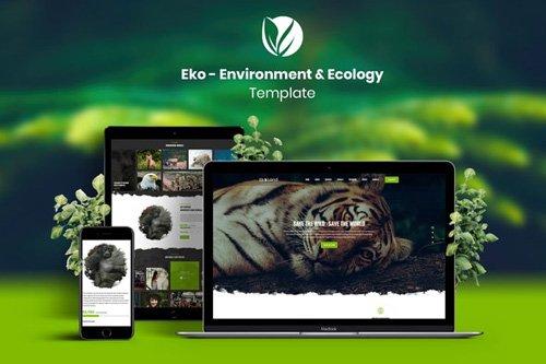 ThemeForest - Eko v1.0 - Environment & Ecology Template Kit - 26126348