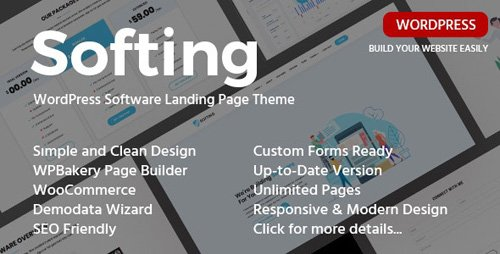 ThemeForest - Softing v1.3.2 - WordPress Software Landing Page Theme - 23177965