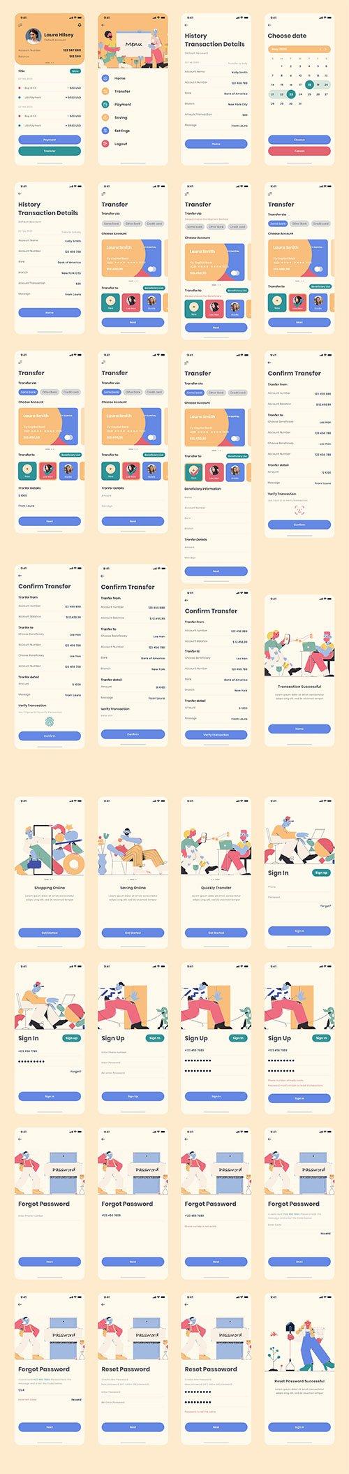 Vintage - Bank App Ui Kit
