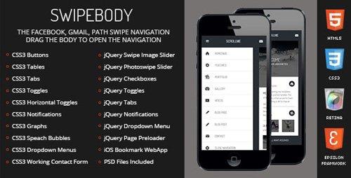 ThemeForest - Swipebody v1.0 - Mobile Template (Update: 26 June 19) - 5340523