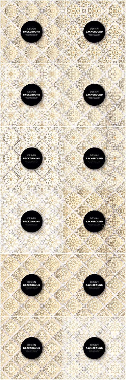 Mandala seamless pattern, islamic vector background # 26
