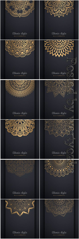 Mandala seamless pattern, islamic vector background # 25
