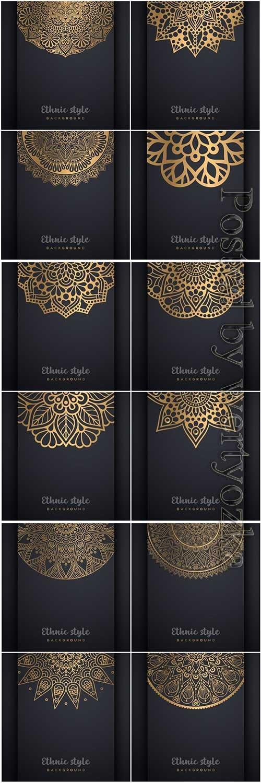 Mandala seamless pattern, islamic vector background # 23