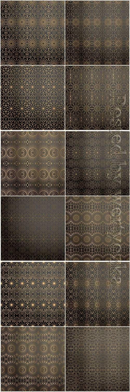 Mandala seamless pattern, islamic vector background # 22