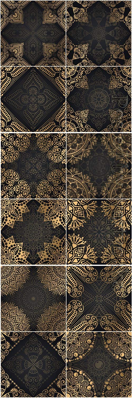 Mandala seamless pattern, islamic vector background # 18