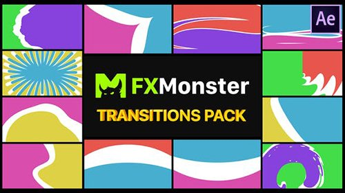 Colorful Transitions Pack | After Effects 26721097