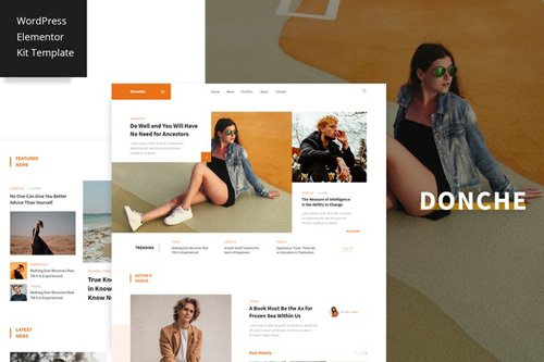 ThemeForest - Donche v1.0 - News Magazine Template Kit - 26302249