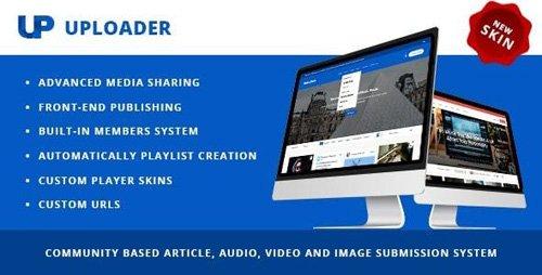 ThemeForest - Uploader v2.3.3 - Advanced Media Sharing Theme - 9760587