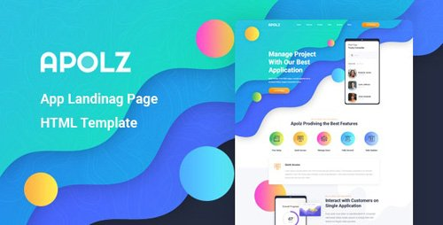 ThemeForest - Apolz v1.0 - App Landing Page HTML Template - 26599019