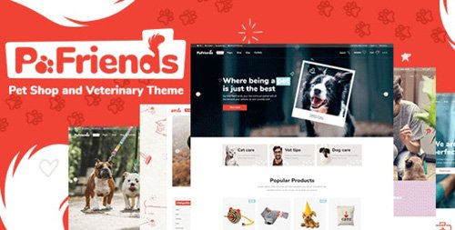 ThemeForest - PawFriends v1.0.0 - Pet Shop and Veterinary Theme - 24555994