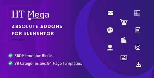 CodeCanyon - HT Mega Pro v1.2.7 - Absolute Addons for Elementor Page Builder - 24288297