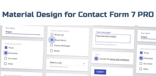 Material Design for Contact Form 7 PRO v2.6.1 - WordPress Plugin - NULLED