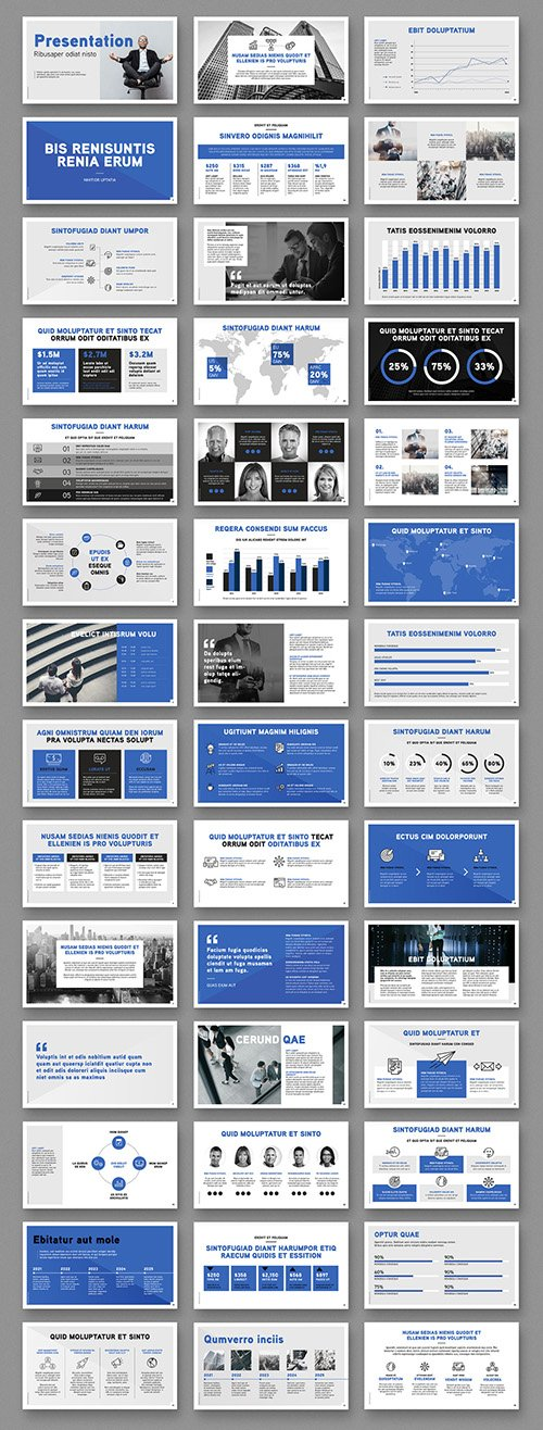 Business Presentation slides Layout 349000770