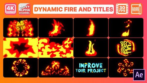 VideoHive - Dynamic Fire And Titles | After Effects 26785522