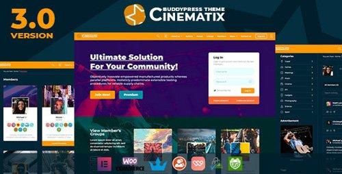ThemeForest - Cinematix v3.0.4 - BuddyPress Nouveau Membership Theme - 4959387